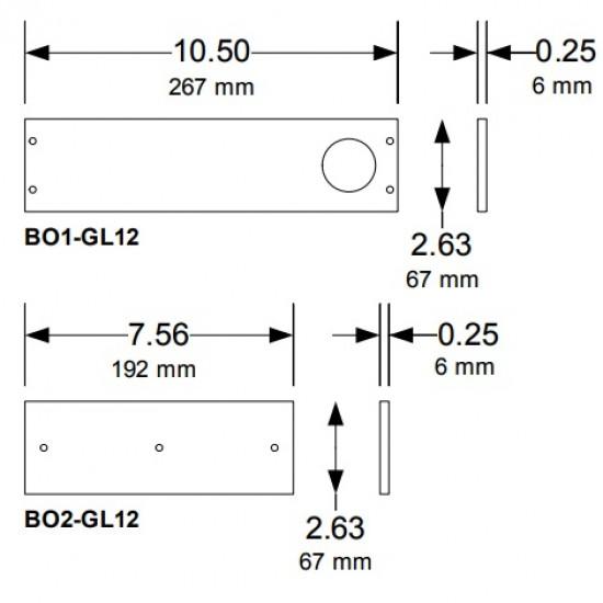 DoorKing 1200lb Gate Maglock (Outdoor Rated)