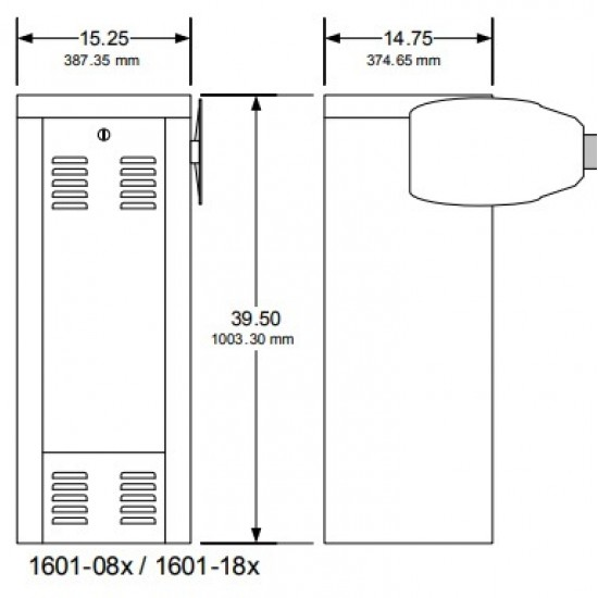DoorKing 1601 Commercial Barrier Gate Operator